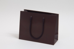 9 x 3.5 x 7 MATTE CHOCOLATE EUROTOTE SHOPPING BAGS