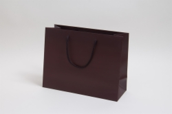 13 x 5 x 10 MATTE CHOCOLATE EUROTOTE SHOPPING BAGS