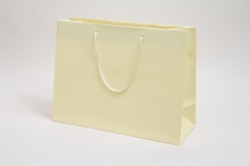16 x 6 x 12 MATTE IVORY EUROTOTE SHOPPING BAGS ***LIMITED AVAILABILITY***