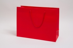 16 x 6 x 12 MATTE RED PAPER EUROTOTE SHOPPING BAGS