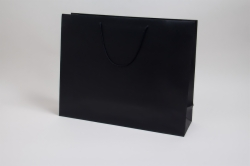 20 x 6 x 16 MATTE BLACK EUROTOTE SHOPPING BAGS