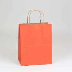 5.50 x 3.25 x 8 TERRA COTTA MATTE SHADOWSTRIPE PAPER BAGS ***LIMITED AVAILABILITY***