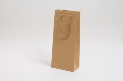 5.5 x 3.5 x 13 NATURAL KRAFT EUROTOTE SHOPPING BAGS