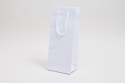 5.5 x 3.5 x 13 WHITE KRAFT EUROTOTE SHOPPING BAGS
