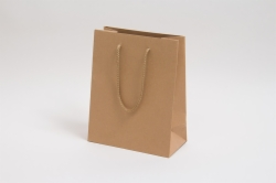 8 x 4 x 10 NATURAL KRAFT EUROTOTE SHOPPING BAGS