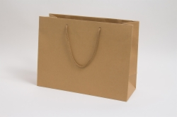 16 x 6 x 12 NATURAL KRAFT EUROTOTE SHOPPING BAGS