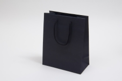 8 x 4 x 10 BLACK TEXTURED EUROTOTE SHOPPING BAGS