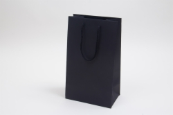 8 x 5 x 13 BLACK TEXTURED EUROTOTE SHOPPING BAGS