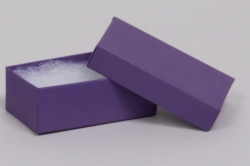 (#21) 2-1/2 x 1-1/2 x 7/8 MATTE DEEP PURPLE JEWELRY BOXES