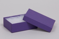 (#32) 3-1/16 x 2-1/8 x 1 MATTE DEEP PURPLE JEWELRY BOXES
