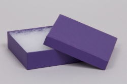 (#33) 3-1/2 x 3-1/2 x 1 MATTE DEEP PURPLE JEWELRY BOXES