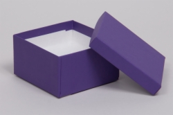 (#34) 3-1/2 x 3-1/2 x 2 MATTE DEEP PURPLE JEWELRY BOXES