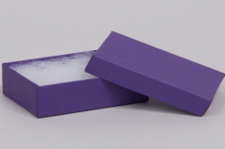 (#65) 6 x 5 x 1 MATTE DEEP PURPLE JEWELRY BOXES