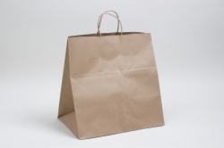 14 x 10 x 15.75 NATURAL KRAFT PAPER SHOPPING BAGS