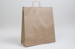 16 x 6 x 19.25 NATURAL KRAFT PAPER SHOPPING BAGS