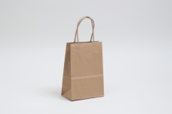 5.25 x 3.25 x 8.375 NATURAL KRAFT PAPER SHOPPING BAGS