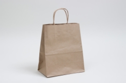 8 x 4.5 x 10.25 NATURAL KRAFT PAPER SHOPPING BAGS