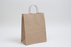 10 x 5 x 13 NATURAL KRAFT PAPER SHOPPING BAGS