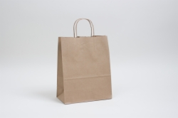 10 x 6.75 x 12 NATURAL KRAFT PAPER SHOPPING BAGS