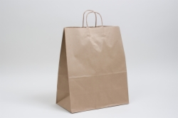 13 x 6 x 15.75 NATURAL KRAFT PAPER SHOPPING BAGS