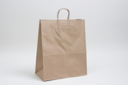 13 x 7 x 17 NATURAL KRAFT PAPER SHOPPING BAGS