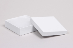 (#65) 6 x 5 x 1 WHITE GLOSS JEWELRY BOXES