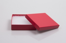 (#33) 3-1/2 x 3-1/2 x 1 CHERRY RED GLOSS JEWELRY BOXES