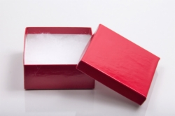 (#33D) 3-1/2 x 3-1/2 x 1-1/2 CHERRY RED GLOSS JEWELRY BOXES