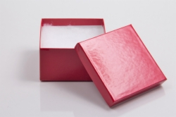 (#34) 3-1/2 x 3-1/2 x 2 CHERRY RED GLOSS JEWELRY BOXES