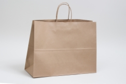 24 x 7.5 x 18.75 ECONOMY NATURAL KRAFT PAPER SHOPPING BAGS