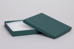 (#65) 6 x 5 x 1 MATTE TEAL JEWELRY BOXES