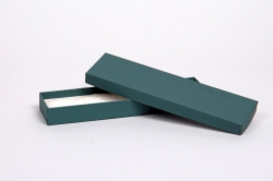 (#82A) 8 x 2 x 7/8 MATTE TEAL JEWELRY BOXES
