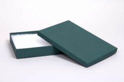 (#85) 8 x 5-1/2 x 1-1/4 MATTE TEAL JEWELRY BOXES