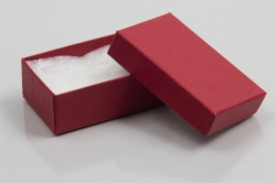 (#21) 2-1/2 x 1-1/2 x 7/8 MATTE BRICK RED JEWELRY BOXES
