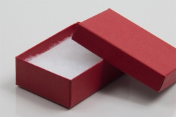 (#32) 3-1/16 x 2-1/8 x 1 MATTE BRICK RED JEWELRY BOXES