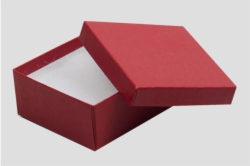 (#34) 3-1/2 x 3-1/2 x 2 MATTE BRICK RED JEWELRY BOXES