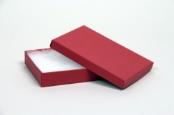 (#65) 6 x 5 x 1 MATTE BRICK RED JEWELRY BOXES