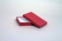 (#53) 5-1/4 x 3-3/4 x 7/8 MATTE BRICK RED JEWELRY BOXES