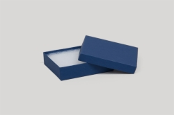 (#32) 3-1/16 x 2-1/8 x 1 MATTE NAVY BLUE JEWELRY BOXES