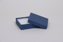 (#33) 3-1/2 x 3-1/2 x 1 MATTE NAVY BLUE JEWELRY BOXES