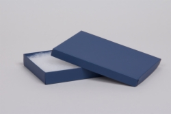 (#65) 6 x 5 x 1 MATTE NAVY BLUE JEWELRY BOXES
