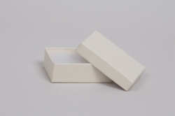 (#32) 3-1/16 x 2-1/8 x 1 MATTE WHITE SAND JEWELRY BOXES