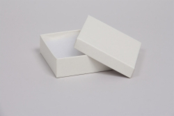 (#33D) 3-1/2 x 3-1/2 x 1-1/2 MATTE WHITE SAND JEWELRY BOXES