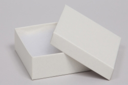 (#34) 3-1/2 x 3-1/2 x 2 MATTE WHITE SAND JEWELRY BOXES
