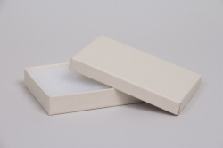 (#53) 5-1/4 x 3-3/4 x 7/8 MATTE WHITE SAND JEWELRY BOXES