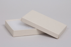(#65) 6 x 5 x 1 MATTE WHITE SAND JEWELRY BOXES