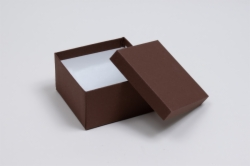 (#34) 3-1/2 x 3-1/2 x 2 COCOA JEWELRY BOXES