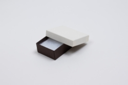 (#21) 2-1/2 x 1-1/2 x 7/8 COFFEE & CREAM JEWELRY BOXES