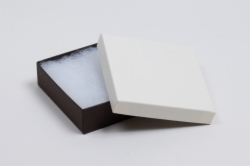 (#33) 3-1/2 x 3-1/2 x 1 COFFEE & CREAM JEWELRY BOXES
