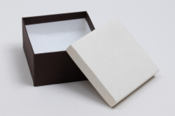 (#34) 3-1/2 x 3-1/2 x 2 COFFEE & CREAM JEWELRY BOXES